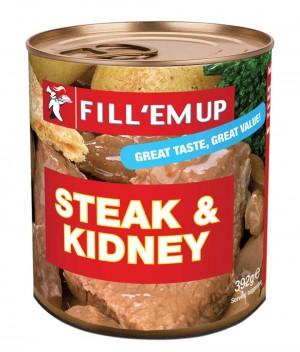 FILL'EM UP -Steak & kidney